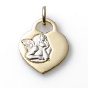 Zlatý přívěsek srdce s andělem S626.00127.1