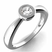 Prsten z bílého zlata s diamantem Věra 990.386-0178