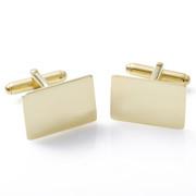 Zlaté manžetové knoflíčky s gravírem - žluté zlato ZZM1712.L10
