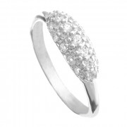 Stříbrný prsten se zirkonovým oválkem 010.00283