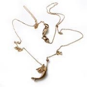 Zlatý náhrdelník mořská víla 010.00002