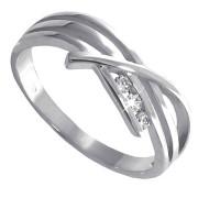 Prsten z bílého zlata se zirkony 010.00163