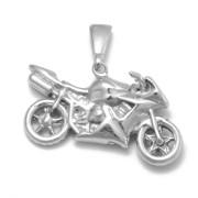 Stříbrný přívěsek motorka Z233