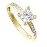 Zlatý zásnubní prsten se zirkony ZZ10.226022207
