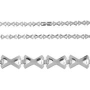 Ocelový řetízek  náhrdelník  z  křížků 13.00012