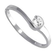 Prsten z bílého zlata se zirkonem 010.00170