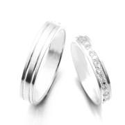 Snubní prsteny bílé zlato 04.K56