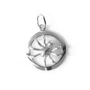 Stříbrný přívěsek pavouček v kroužku 000.00088
