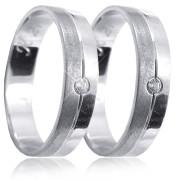 Snubní prsteny bílé zlato 04.K21