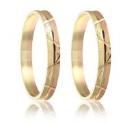 Snubní prsteny - kombinace zlata 04.b318