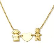Zlatý náhrdelník zamilovaný pár C10