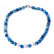 Luxusní náhrdelník modré kameny 081.00012