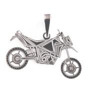Stříbrný přívěsek motorka cross 000.00033