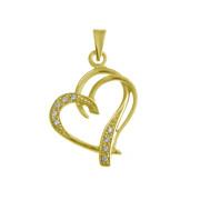 Zlatý přívěsek srdce žluté zlato