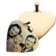 Zlatý přívěs srdce destička žluté zlato P10.04