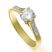 Zlatý zásnubní prsten se zirkony ZZ10.226022125