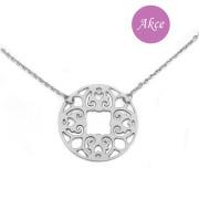 Stříbrný náhrdelník mandala RKPLBL0231