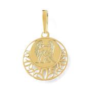 Zlatý přívěsek znamení Blíženci kolečko 000.00113
