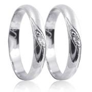 Stříbrné snubní prsteny K59