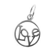 Stříbrný přívěsek nápis Love v kroužku 13.000.00021