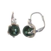 Stříbrné náušnice s černými perlami v chapadlech tahiti  201.00013