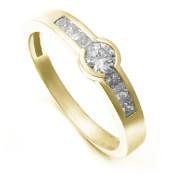 Zlatý zásnubní prsten se zirkony ZZ10.224020199