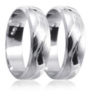 Snubní prsteny z bílého zlata 04.K66