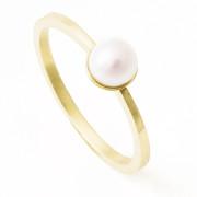 Zlatý prsten s bílou perlou 200.00001