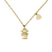 Zlatý náhrdelník holčička C10