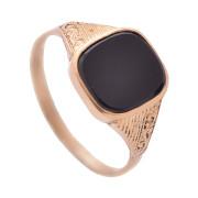 Zlatý pánský pečetní prsten s onyxem 760.00008
