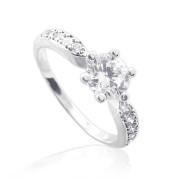 Zlatý zásnubní prsten se zirkony 010.00021