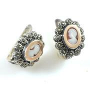 Stříbrné náušnice s kameny B 37763