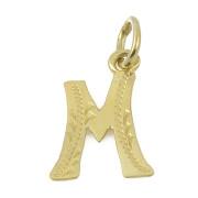 Přívěšek ze žlutého zlata písmeno M 03.000.00031