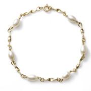 Zlatý náramek s perlami 740.00001