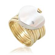 Dámský luxusní prsten nebo náramek 2v1 kombinované zlato 010.00022