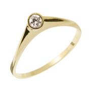 Zásnubní prsten ze žlutého zlata 05.B226879