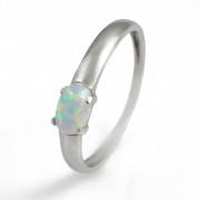 Zlatý prsten s bílým opálem duhový 840.00113