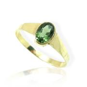 Zlatý prsten s vltavínem s brusem 860.00036