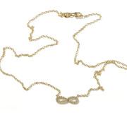 Zlatý náhrdelník nekonečno se zirkony 010.00028