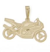 Zlatý přívěsek sportovní motorka 000.00017