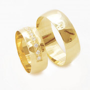 Zlaté snubní prsteny 04.Ilon03