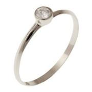 Zásnubní prsten z bílého zlata 05.B880