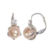 Stříbrné náušnice s růžovými perlami v chapadlech 201.00012