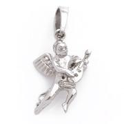 Stříbrný přívěsek andílek -s loutnou, trojrozměrná figurka 06.000.00005