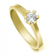 Zlatý zásnubní prsten se zirkonem 224020180