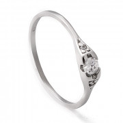 Zlatý zásnubní prsten se zirkony 05.1388