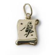 Zlatý přívěsek znamení Panna žluté zlato pergamen 000.00104