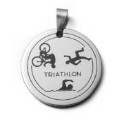 Ocelový přívěsek triathlon ZZ30.09.triathlon