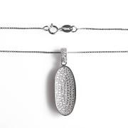 Stříbrný náhrdelník ovál s řetízkem Beneto AGS137/45 010.00065