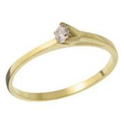 Zásnubní prsten ze žlutého zlata B226869